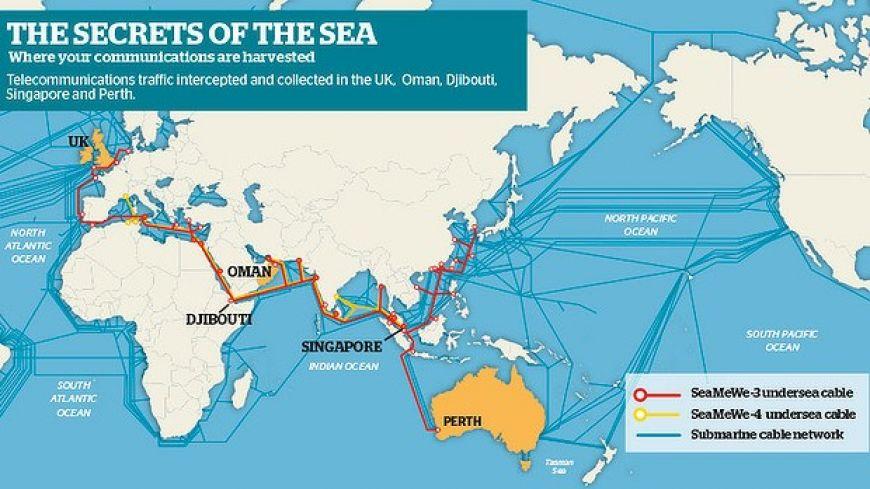 Inilah Peta Kabel Internet Bawah Laut di Dunia, Waw