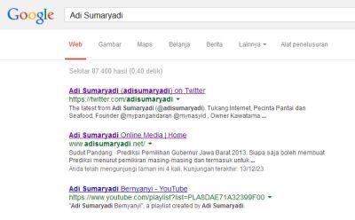 Nama diri, Tingkat Kepopuleran Orang dan Mesin Pencari Google