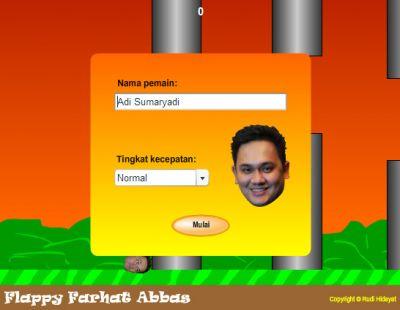 Sudah Coba Main Game Flappy Farhat Abbas? Kayak Flappy Bird