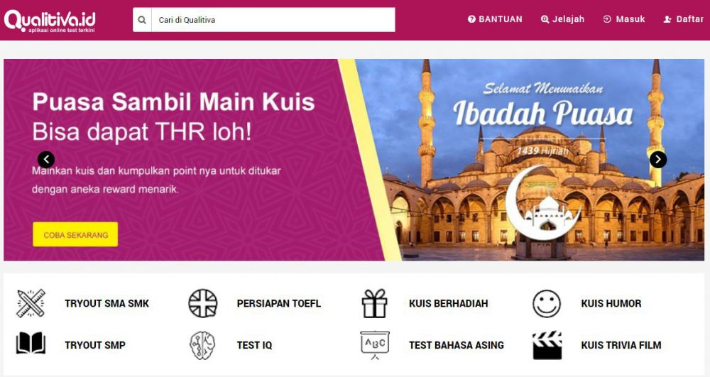 Qualitiva, Tempat Buat Kuis dan Test Online, Dapat Uang
