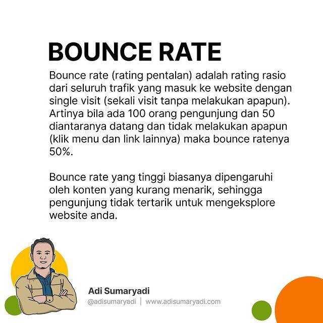Inginya website yang kita punya Bounc ratenya kecil. #seo #digitalmarketing #internetmarketing #seotips