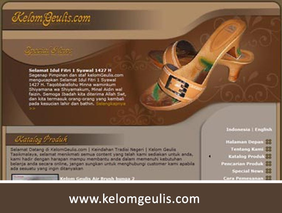 Kelomgeulis.com | Ketika Sendal Dijual Online
