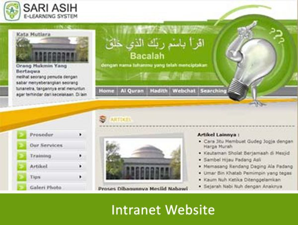 Sariasih E-Learning System