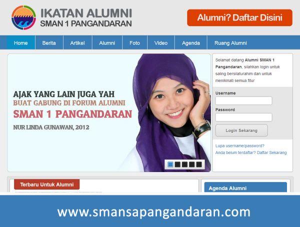 Website Alumni SMAN 1 Pangandaran