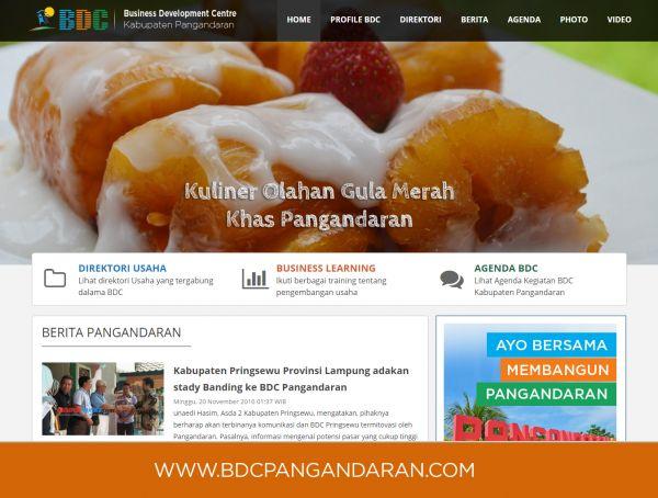 Website BDC Kabupaten Pangandaran