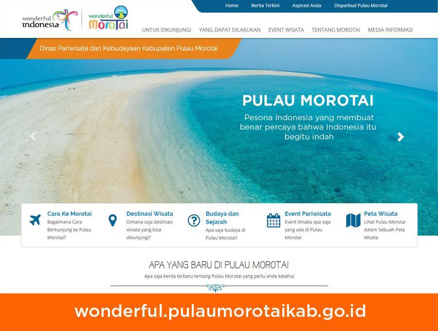 Website Dinas Pariwisata Kabupaten Pulau Morotai