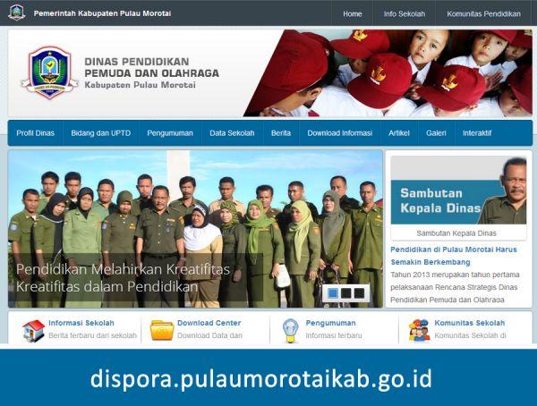 Website Dispora Pulau Morotai