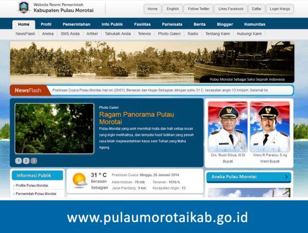 Website Kabupaten Pulau Morotai