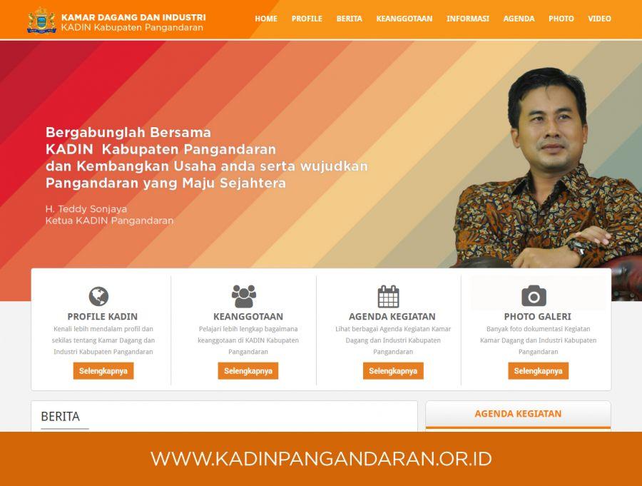 Website Kadin Kabupaten Pangandaran