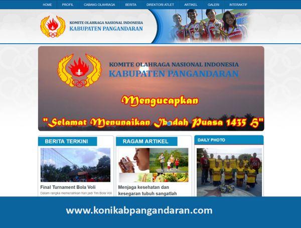 Website KONI Kabupaten Pangandaran