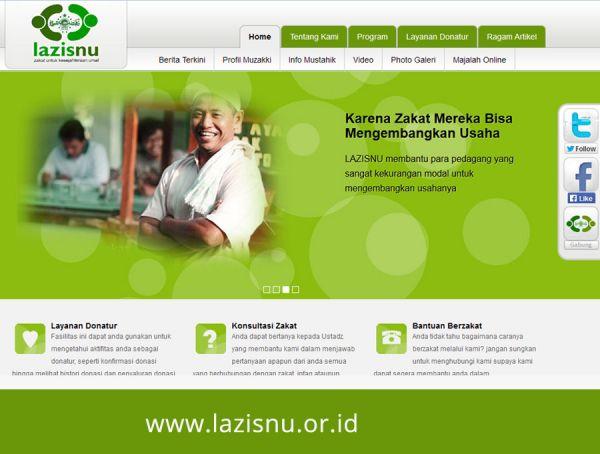 Website LAZIS Nahdatul Ulama
