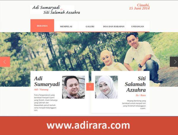 Website Pernikahan Adi dan Rara