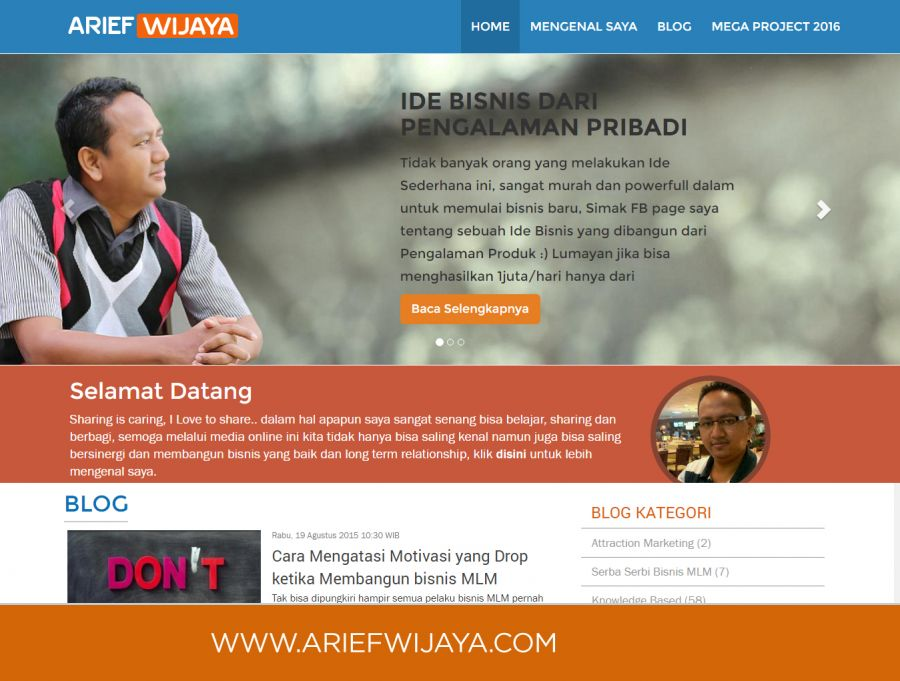 Website Personal Arief Wijaya