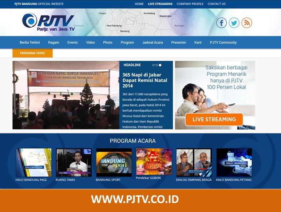 Website PJTV Bandung