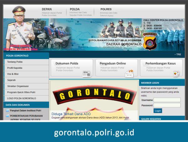 Website Polda Gorontalo