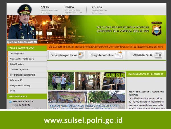 Website Polda Sulawesi Selatan