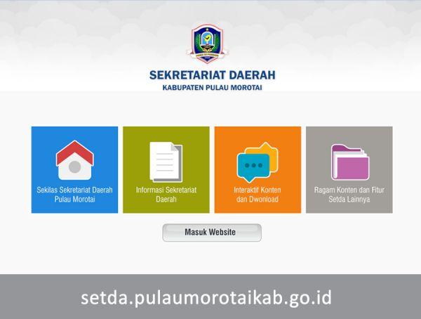 Website Setda Pulau Morotai