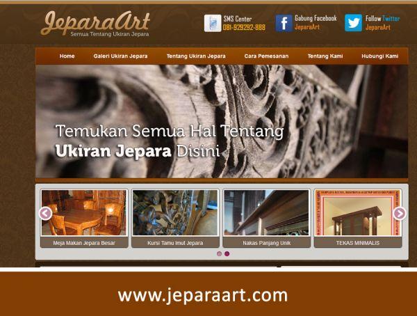 Website Tentang Ukiran JeparaArt