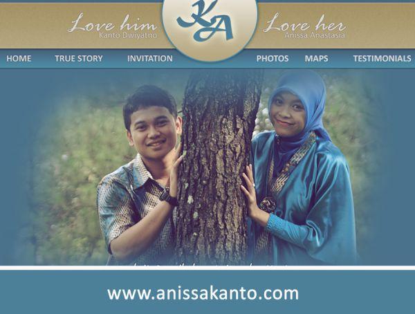 Website Wedding Anissa dan Kanto