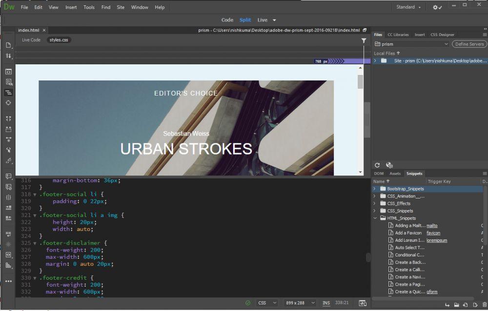 Menghapus Baris Kosong Source Code di Editor Dreamweaver